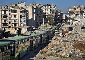 Son dakika: Halep'ten kurtarılan yaralılar ve siviller İdlib'e ulaştı