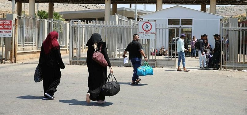 143,000 SYRIANS LIVING IN TURKEY GET BACK TO HOMELAND IN LAST 8 MONTHS