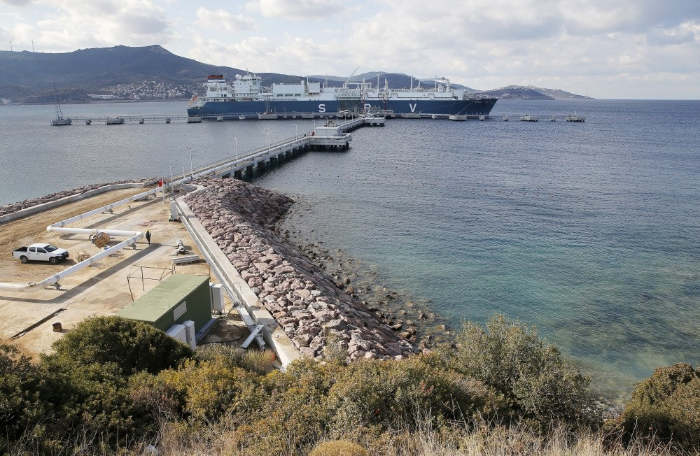 Turkey's first ever floating storage re-gasification facility (FSRU) offers alternative supplies to diversify Turkey's energy resources and allows for flexibility in meeting the country's energy needs. (AA)