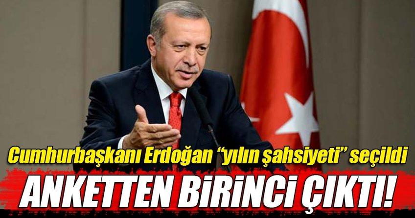 Cumhurbaşkanı Erdoğan ankette birinci seçildi