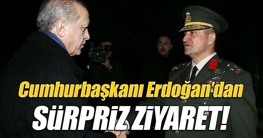 Cumhurbaşkanı Erdoğan'dan süpriz ziyaret!