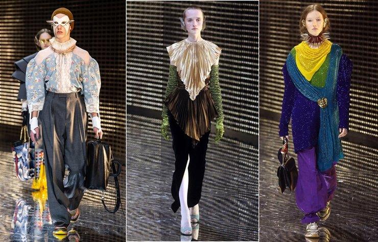 Gucci Sonbahar/Kış 2019-20 şovu Milano Moda Haftası kapsamında gerçekleşti. Alessandro Michele'nin sezon kadınları gösterişli giysileri kadar karakterli aksesualarıyla da dikkat çekti.