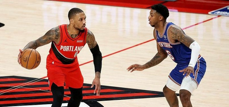 LILLARD LEADS RESTED TRAIL BLAZERS PAST KNICKS 116-113