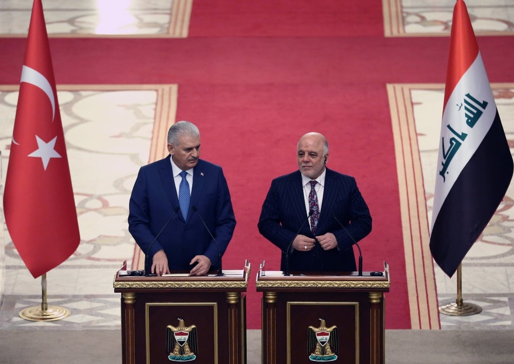 Prime Minister Binali Yu0131ldu0131ru0131m and his Iraqi counterpart Haider al-Abadi hold a joint news conference in Baghdad, Iraq, Jan.7.