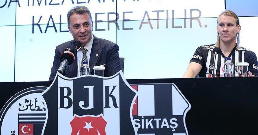 Vida resmen Beşiktaşta