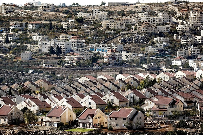 A general view of houses in the Israel-occupied West Bank settlement established on private Palestinian land. (AFP Photo)