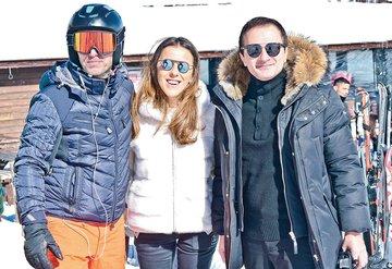 'Beyaz Cennet'te kayak keyfi