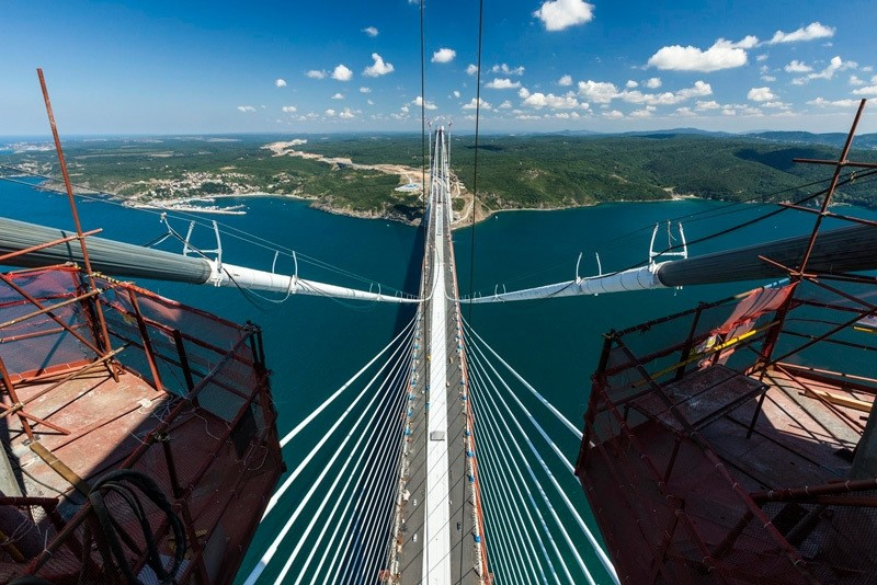 One of Turkeyu2019s numerous mega infrastructure projects, the Yavuz Sultan Selim Bridge is set to open on August 26, 2016