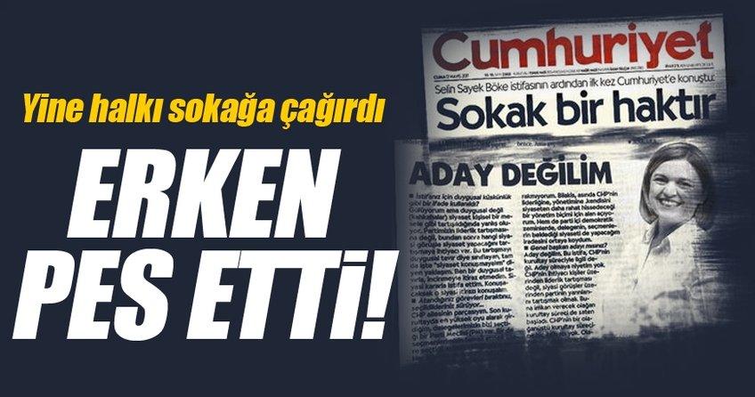Selin Sayek Böke, yine halkı sokağa çağırdı