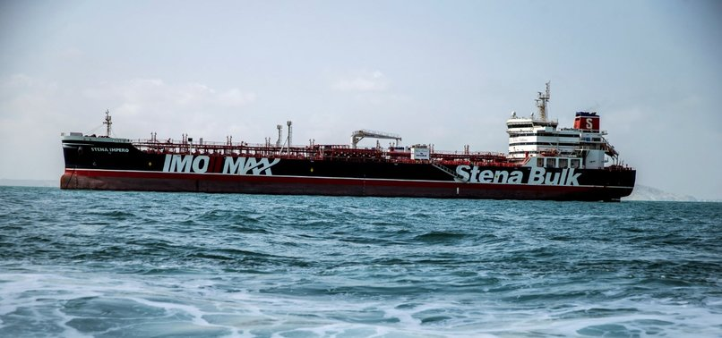 BRITISH OIL TANKER LEAVES IRANIAN WATERS