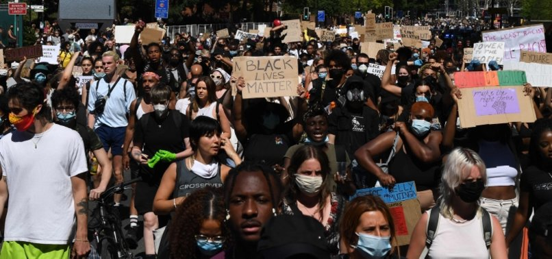 THOUSANDS MARCH IN LONDON AND BERLIN TO SEEK JUSTICE FOR GEORGE FLOYD WHO WAS KILLED IN U.S. POLICE CUSTODY