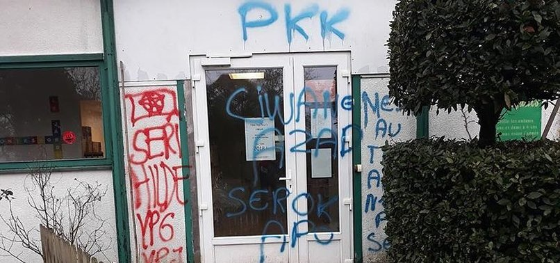 PYD/PKK SUPPORTERS VANDALIZE MOSQUE IN FRENCH CITY