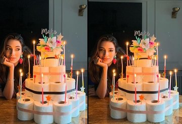 Karantina günlerinde doğum günü kutlaması