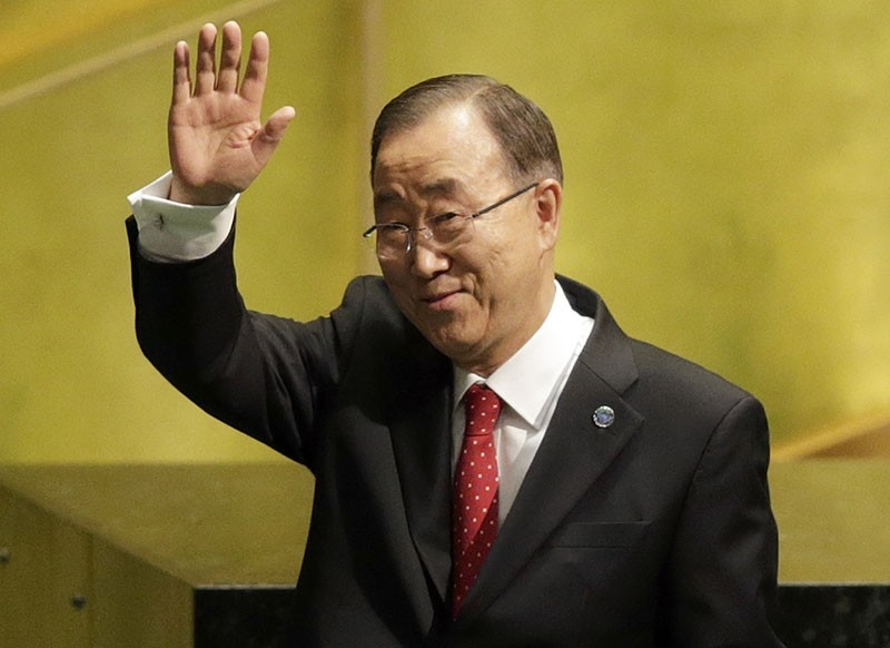 In this Dec. 12, 2016, file photo, United Nations Secretary-General Ban Ki-moon waves after speaking at the swearing-in ceremony for his successor, Antonio Guterres, at U.N. headquarters. (AP Photo)