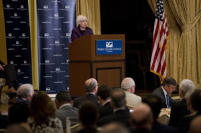 Federal Reserve Chair Janet Yellen speaks in Philadelphia, Monday, June 6, 2016. (AP Photo)