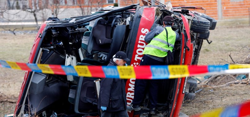 NORTH MACEDONIA DECLARES 2 DAYS OF MOURNING AFTER BUS CRASH KILLS 14