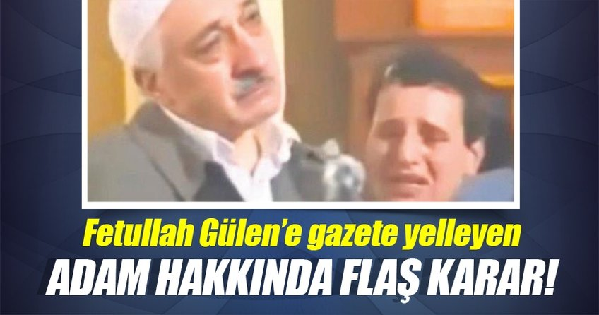 Fetullah Gülen'e yelpaze sallayan şahıs gözaltına alındı