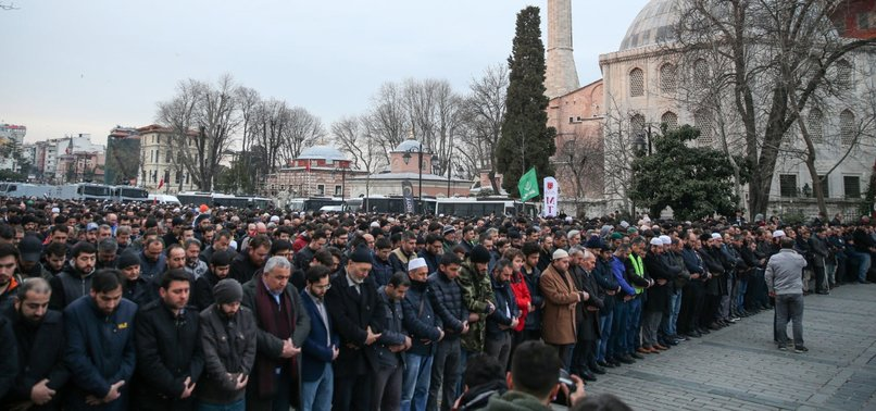 PROTESTERS HOLD SYMBOLIC FUNERAL IN ISTANBUL FOR NEW ZEALAND VICTIMS