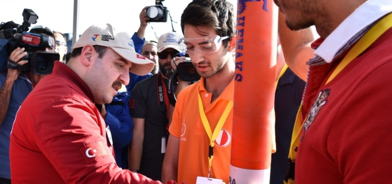 TURKISH MINISTER VARANK ATTENDS ROCKET RACE IN CENTRAL TURKEY
