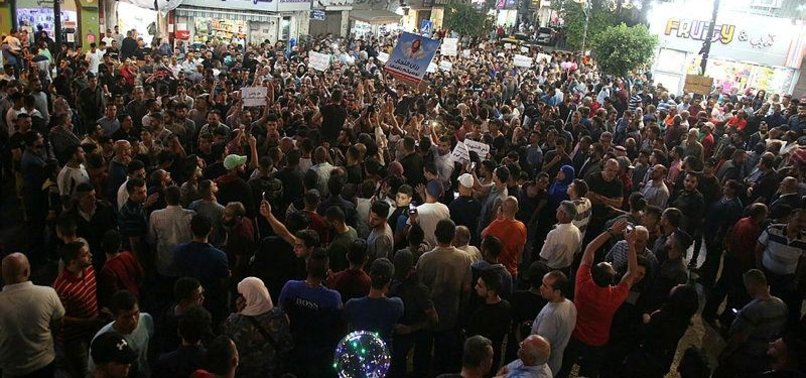PALESTINIANS RALLY IN RAMALLAH AGAINST GAZA SANCTIONS