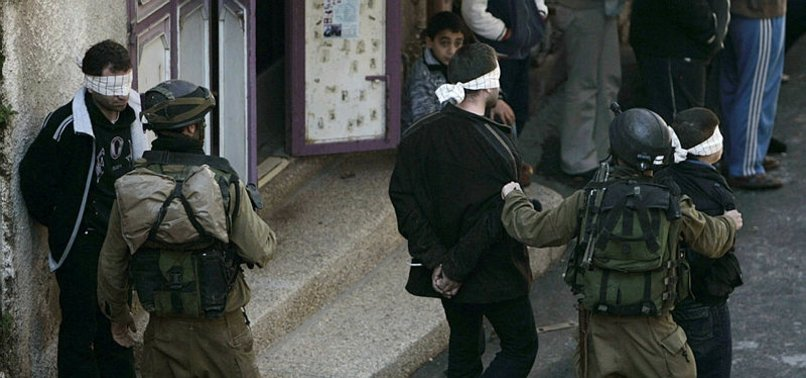 16 PALESTINIANS ARRESTED IN WEST BANK RAIDS