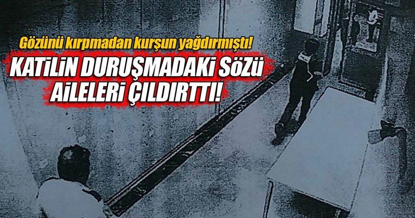Sanık Türkmen, duruşmada dinlenen tanığa, Yalan söylüyor. Allah'tan kork, yalan söyleme diye tepki gösterdi.
