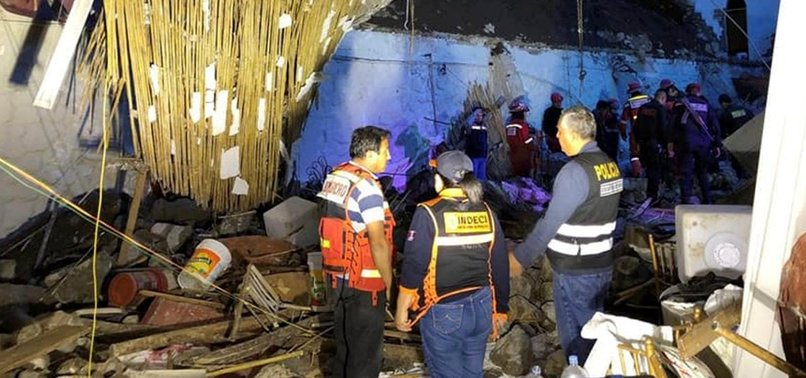 AT LEAST 15 KILLED AT WEDDING IN PERU AFTER WALL COLLAPSES UNDER RAINS