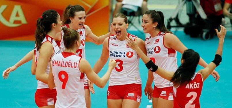TURKEY BEAT AZERBAIJAN IN WOMENS VOLLEYBALL