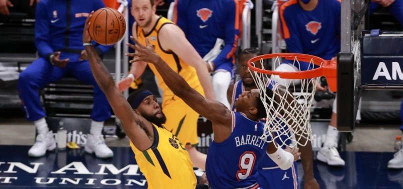JAZZ BEAT KNICKS 108-94 FOR 9TH SUCCESSIVE WIN