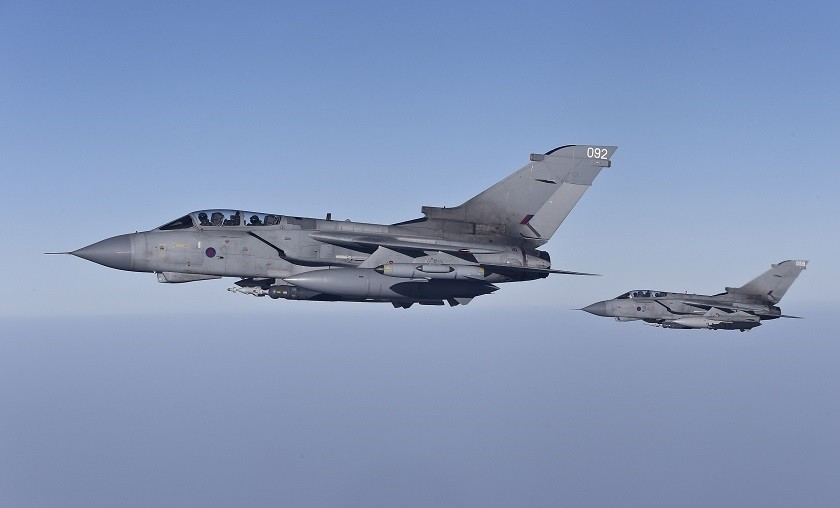 Tornado fighter jets of the British RAF. (REUTERS Photo)