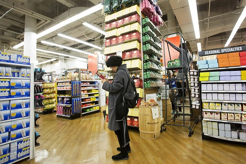 In this Tuesday, April 5, 2016, photo, a customer shops at a Bed Bath & Beyond in New York. On Tuesday, May 17, 2016, the Labor Department reports on U.S. consumer prices for April. (AP Photo)