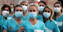 French healthcare workers protest for wages, resources