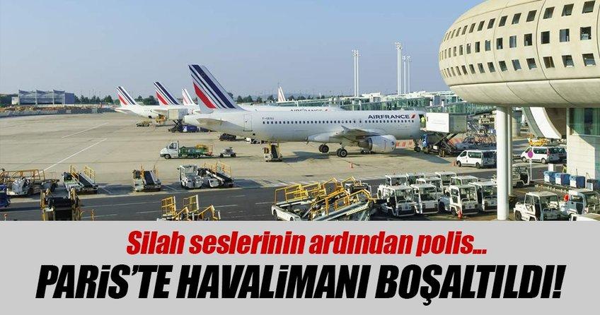 Pariste silah sesleri! Havalimanı boşaltıldı