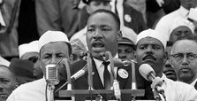 Peaceful civil rights champion: Martin Luther King Jr.