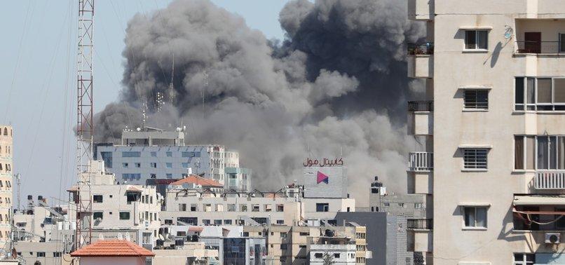 ISRAELI FIGHTER JETS HIT GAZA OFFICES OF AP AND AL-JAZEERA