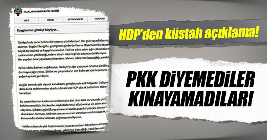 HDP PKK diyemedi