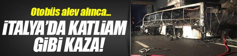 İtalyada katliam gibi kaza