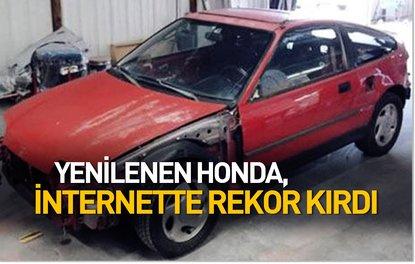 Yenilenen Honda, internette rekor kırdı