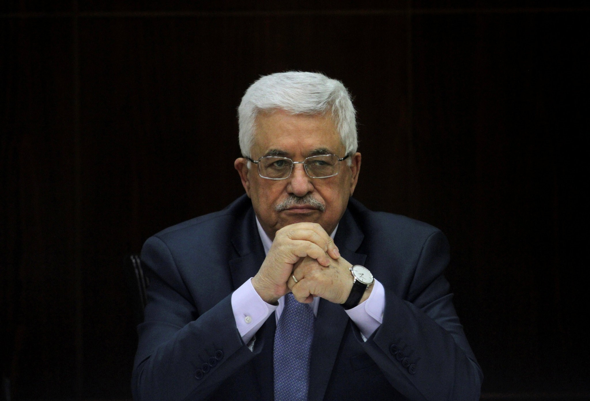 Palestinian President Mahmoud Abbas heads a Palestinian cabinet meeting in the West Bank city of Ramallah July 28, 2013. (REUTERS Photo)