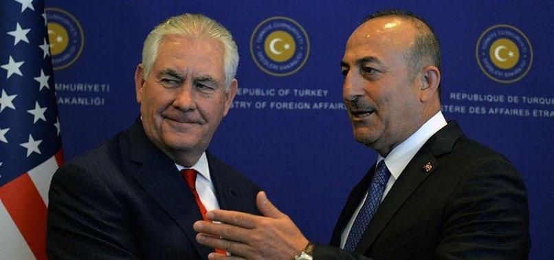 TURKEYS ÇAVUŞOĞLU, US TILLERSON DISCUSS IN PHONE CALL