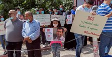 Palestinian protesters urge Israel to free boycott activist