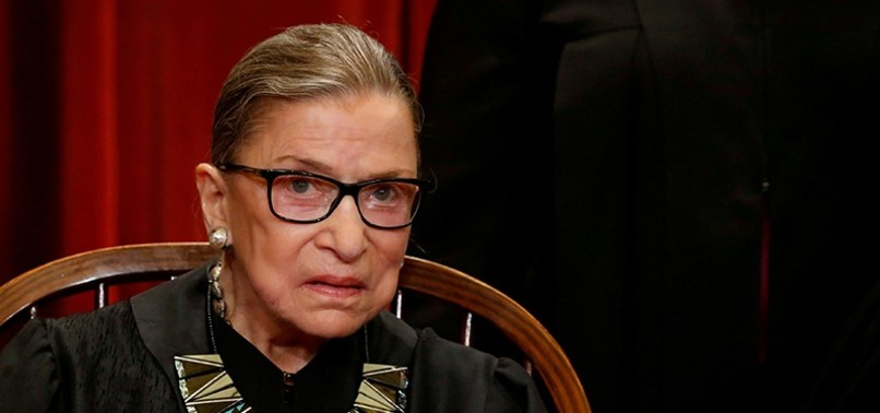 US SUPREME COURT JUSTICE GINSBURG HOSPITALIZED AFTER FRACTURING 3 RIBS IN FALL