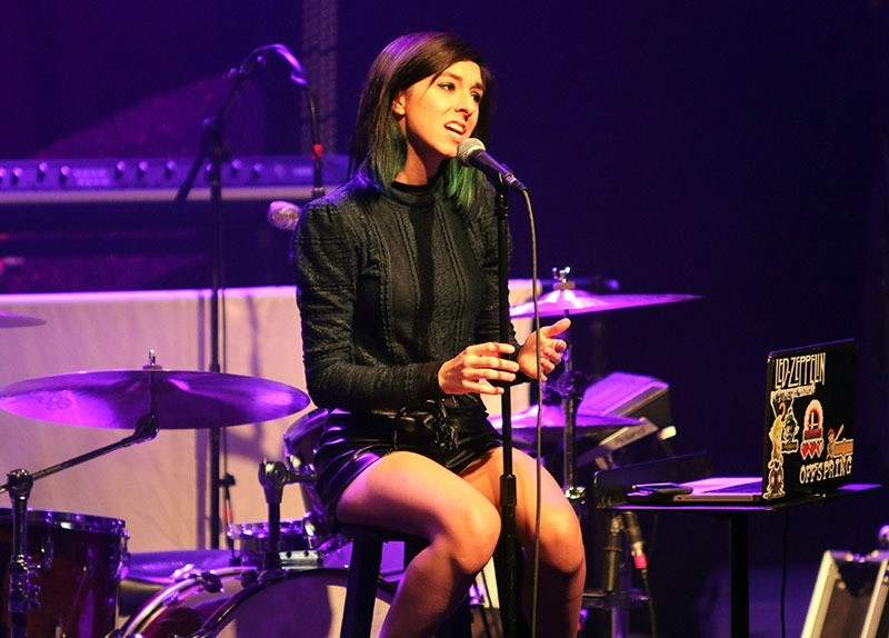 In this March 2, 2016 file photo, Christina Grimmie performs as the opener for Rachel Platten at Center Stage Theater, in Atlanta (AP)