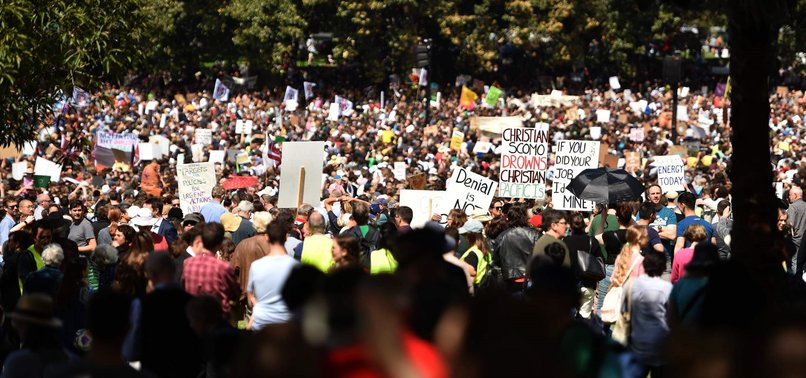 THOUSANDS MARCH ON CLIMATE CHANGE IN AUSTRALIA