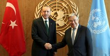 President Erdoğan meets UN chief Guterres in New York