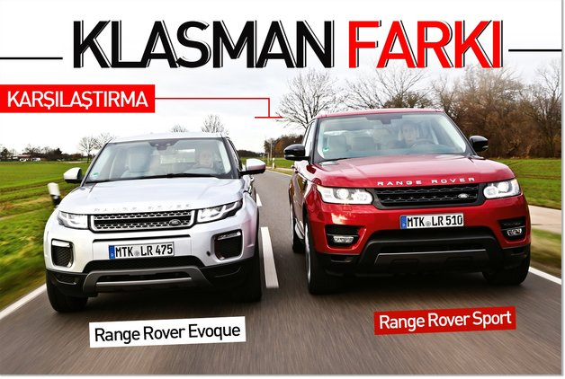 KARŞILAŞTIRMA · Range Rover Sport – Evoque