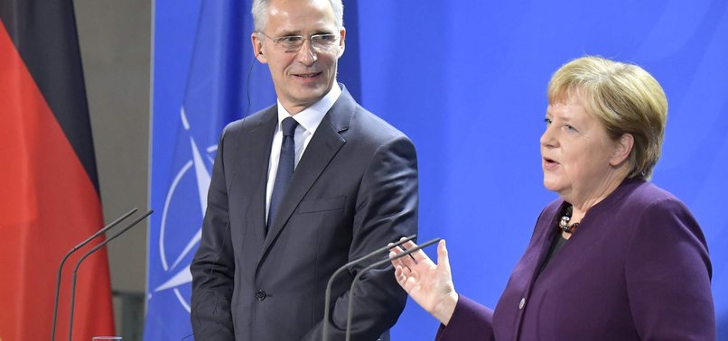 MERKEL, NATO CHIEF REJECT MACRONS VIEW NATO IS EXPERIENCING BRAIN DEATH