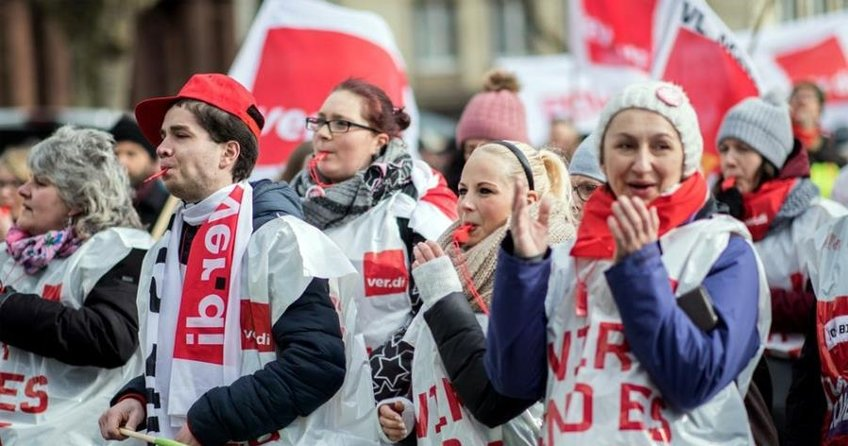 NRW'de grevler hayatı felç ediyor