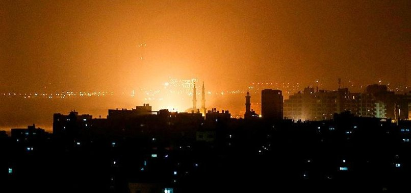 ISRAELI WARPLANES POUND GAZA; FOUR PALESTINIANS INJURED