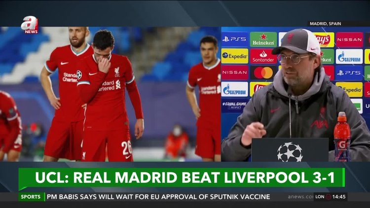 Madrid beat Liverpool 3-1 in 1st leg of CL quarterfinals